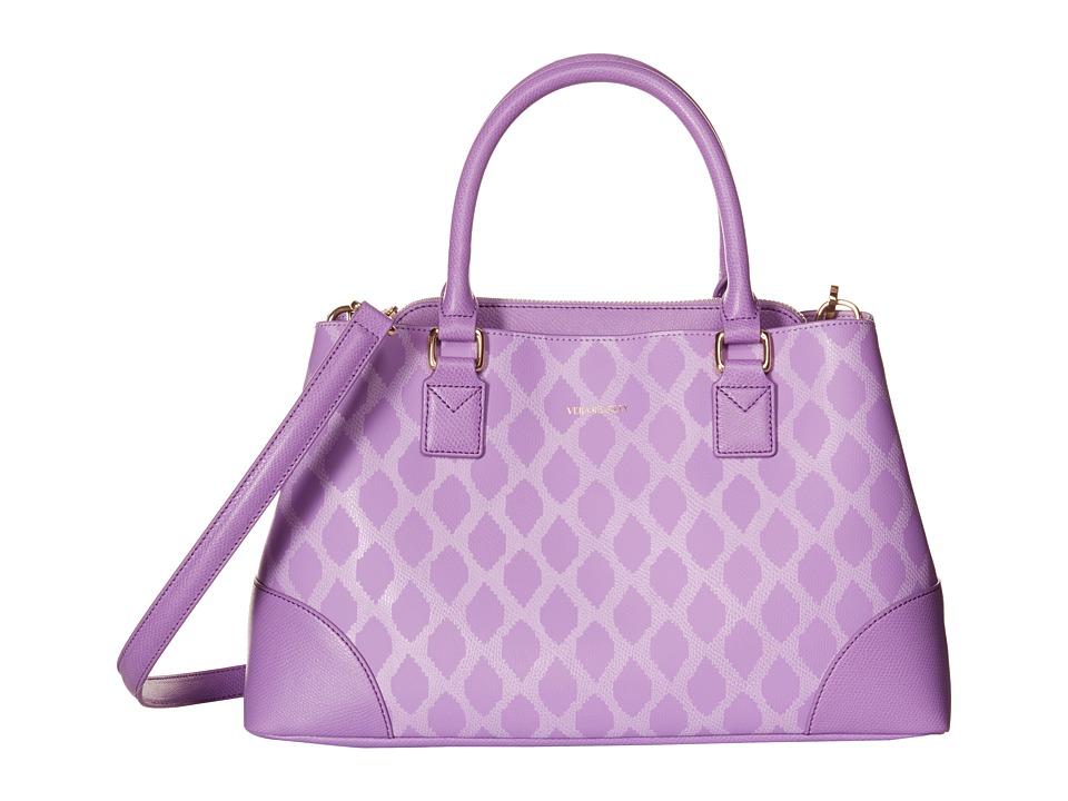 Vera Bradley Emma Satchel Ikat Diamonds Lilac Satchel Handbags