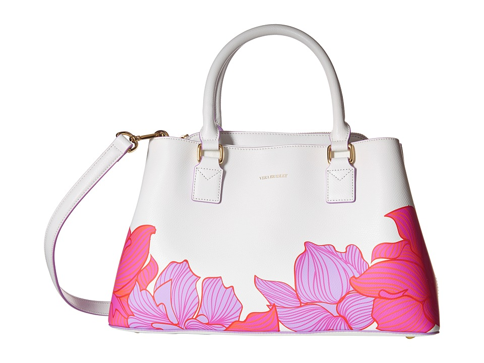 Vera Bradley Emma Satchel Paradise Floral Lilac Satchel Handbags