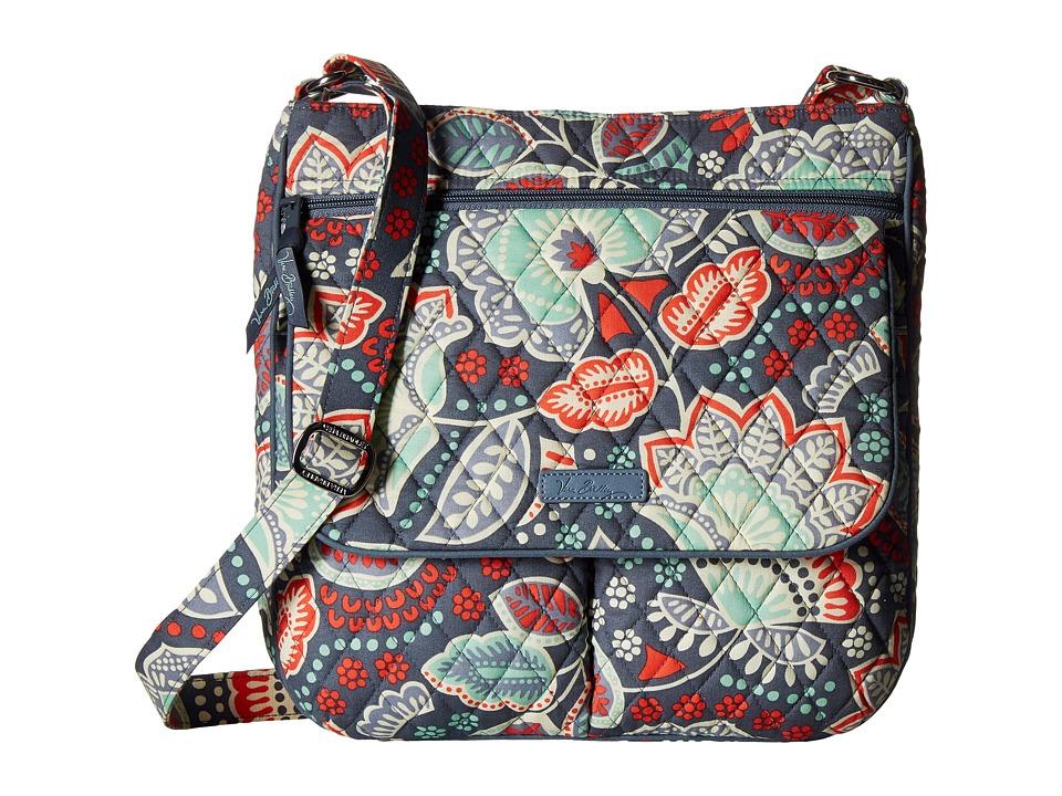 Vera Bradley Double Zip Mailbag Nomadic Floral Cross Body Handbags