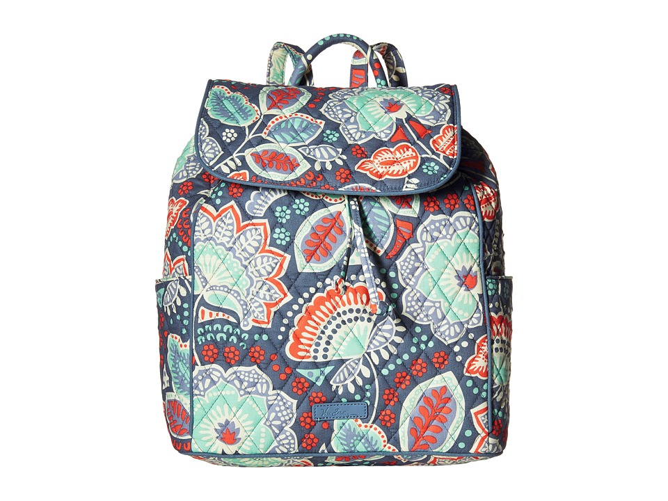 Vera Bradley - Drawstring Backpack (Nomadic Floral) Backpack Bags