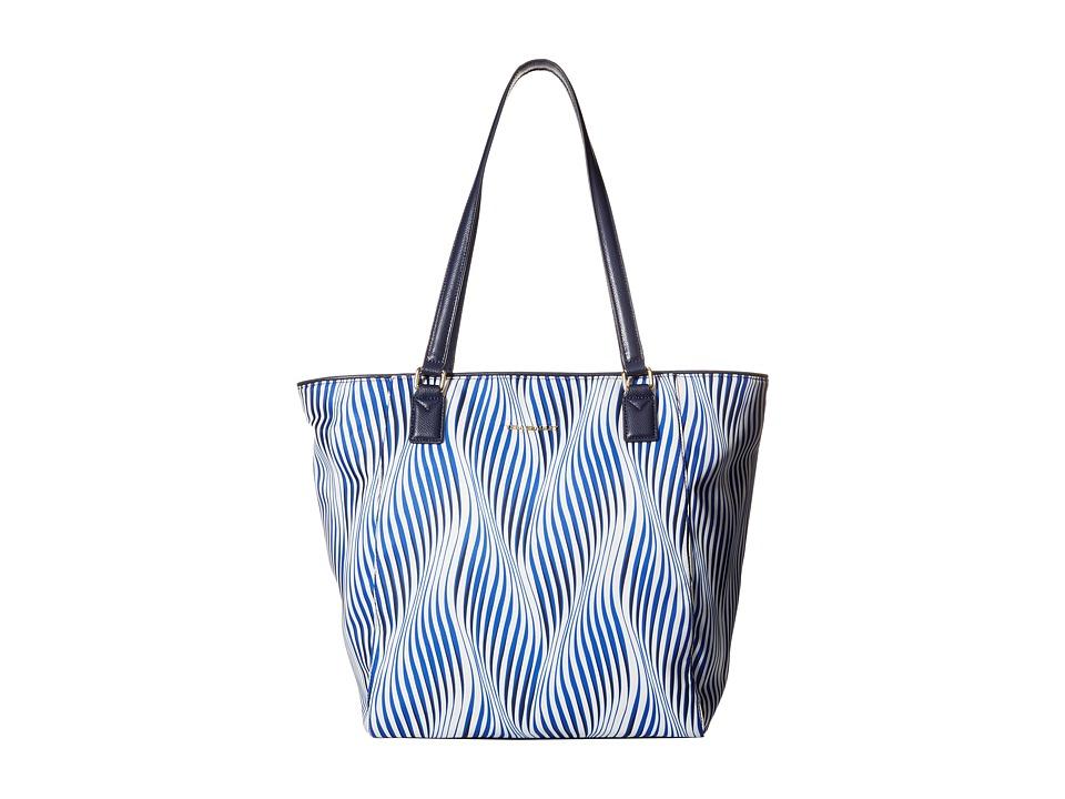 Vera Bradley Ella Tote Wavy Stripe/Navy Tote Handbags