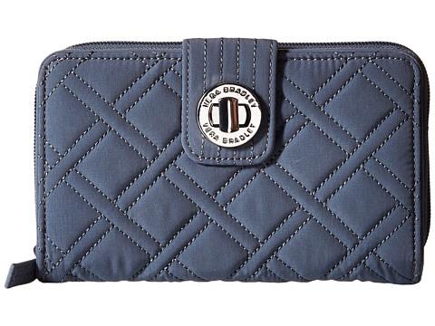Vera Bradley Turnlock Wallet - Charcoal