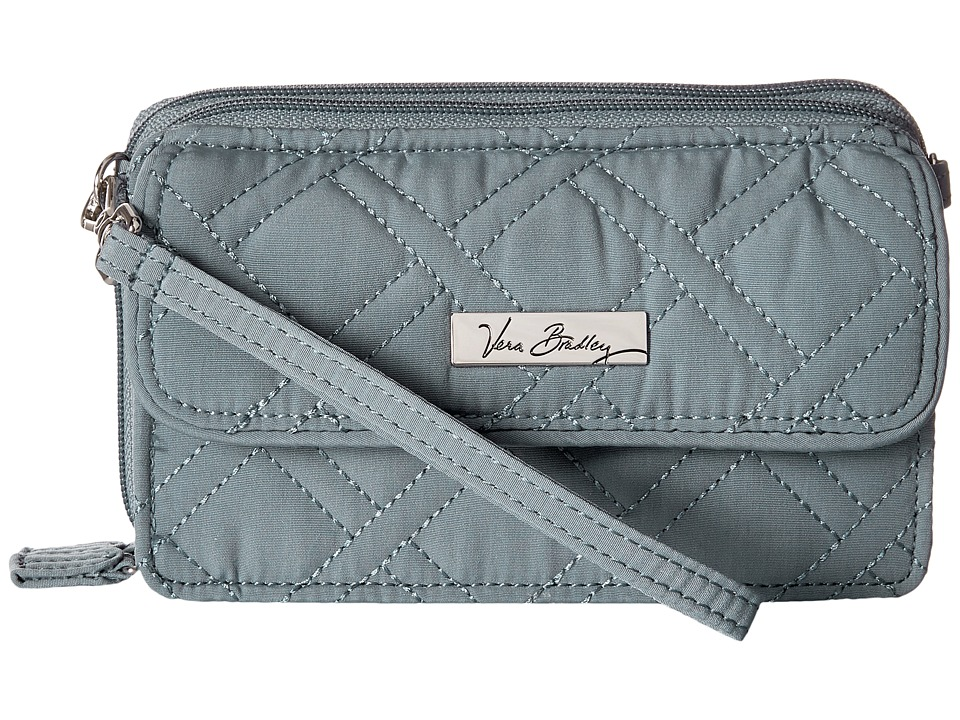 Vera Bradley All in One Crossbody for iPhone 6 Charcoal Clutch Handbags