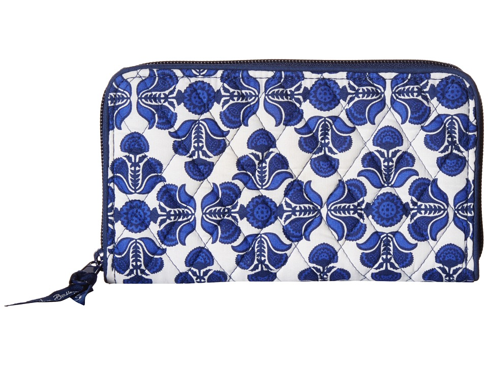 Vera Bradley Accordion Wallet Cobalt Tile Wallet Handbags