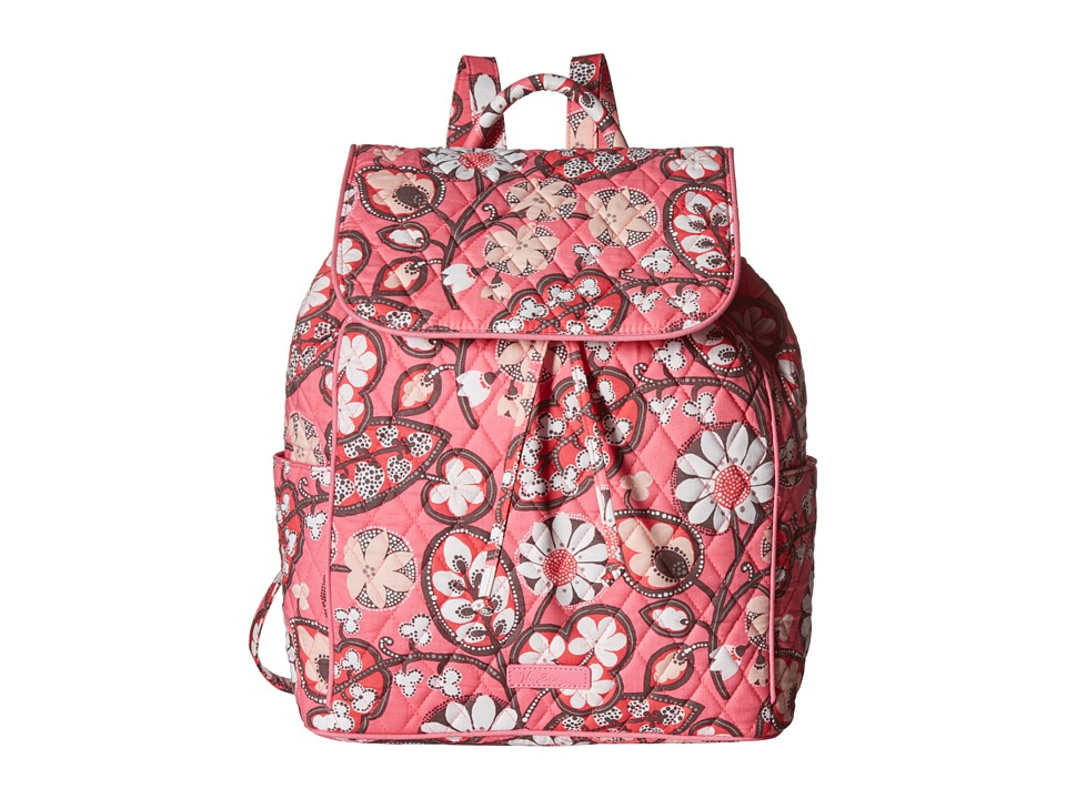 Vera Bradley - Drawstring Backpack (Blush Pink) Backpack Bags