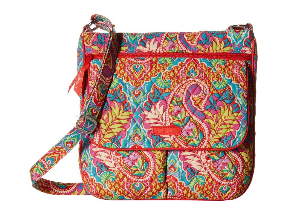 Vera Bradley Double Zip Mailbag Paisley in Paradise Cross Body Handbags