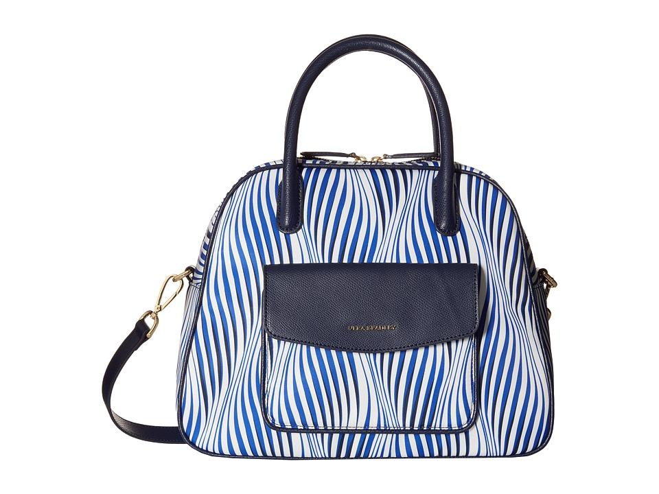Vera Bradley Bowler Wavy Stripe/Navy Shoulder Handbags