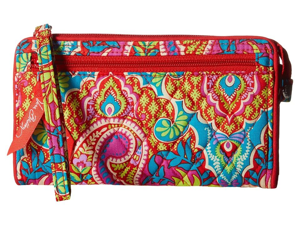 Vera Bradley Front Zip Wristlet Paisley in Paradise Wristlet Handbags