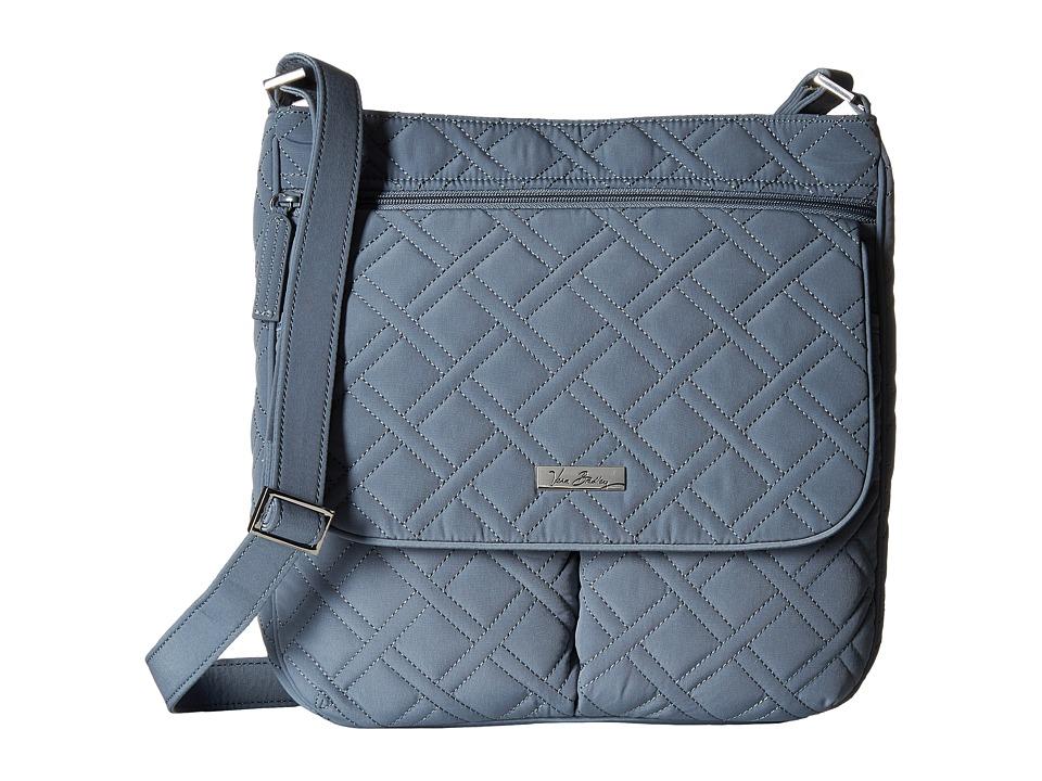 Vera Bradley Double Zip Mailbag Charcoal Cross Body Handbags