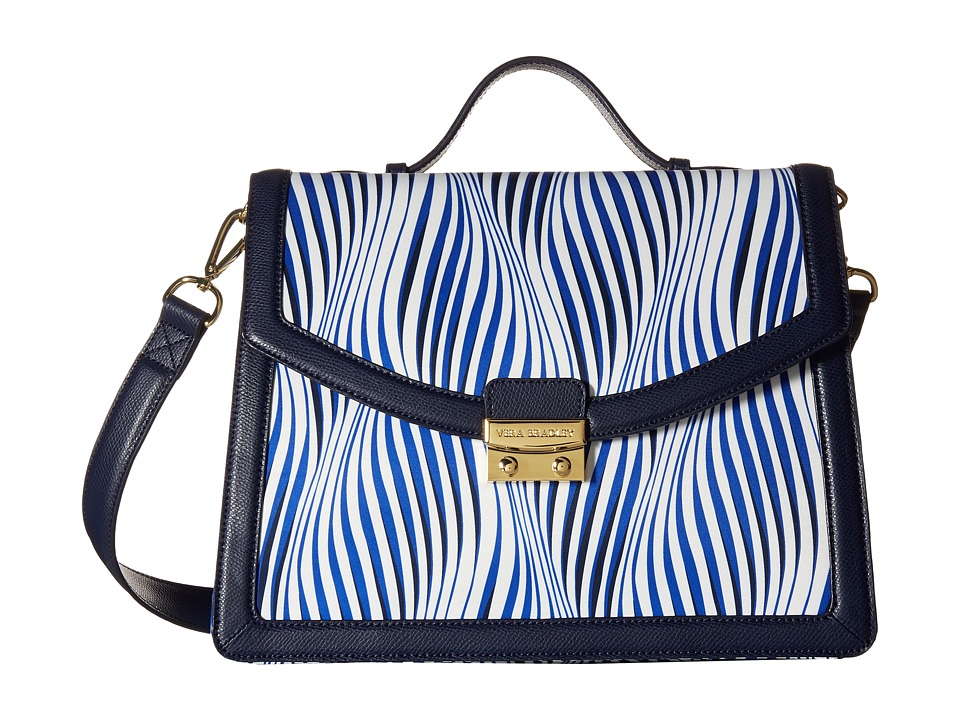 Vera Bradley Change It Up Crossbody Wavy Stripe/Navy Cross Body Handbags