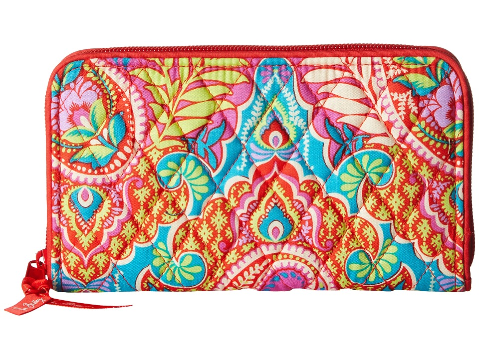 Vera Bradley Accordion Wallet Paisley in Paradise Wallet Handbags