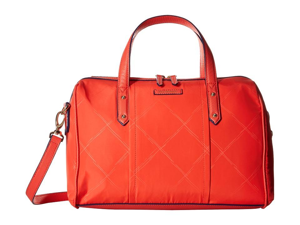 Vera Bradley Preppy Poly Marlo Satchel Orange Satchel Handbags