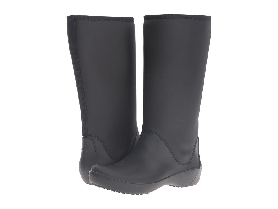 Crocs RainFloe Tall Boot (Black) Women