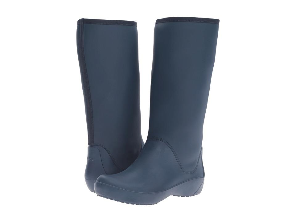 Crocs RainFloe Tall Boot (Navy) Women
