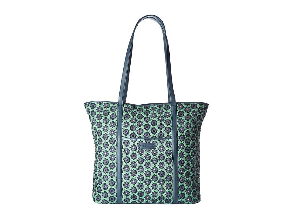 Vera Bradley Luggage - Trimmed Vera (Nomadic Blossoms/Gray) Tote Handbags