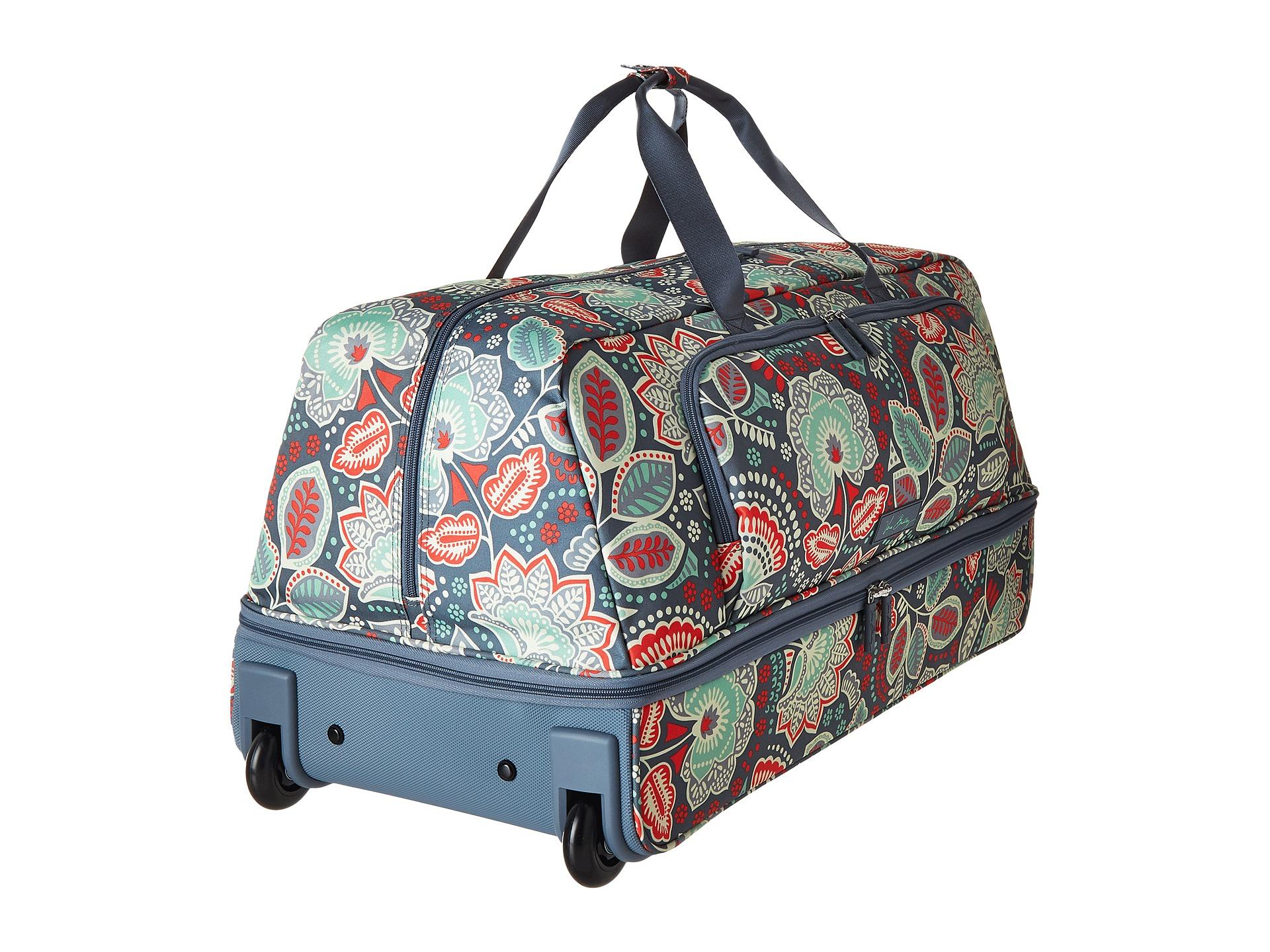Vera Bradley Luggage Lighten Up Large Wheeled Duffel Nomadic Floral - Zappos.com Free Shipping ...