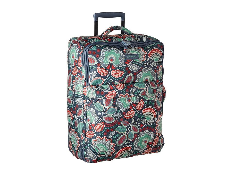 Vera Bradley Luggage - Large Foldable Roller (Nomadic Floral) Suiter Luggage