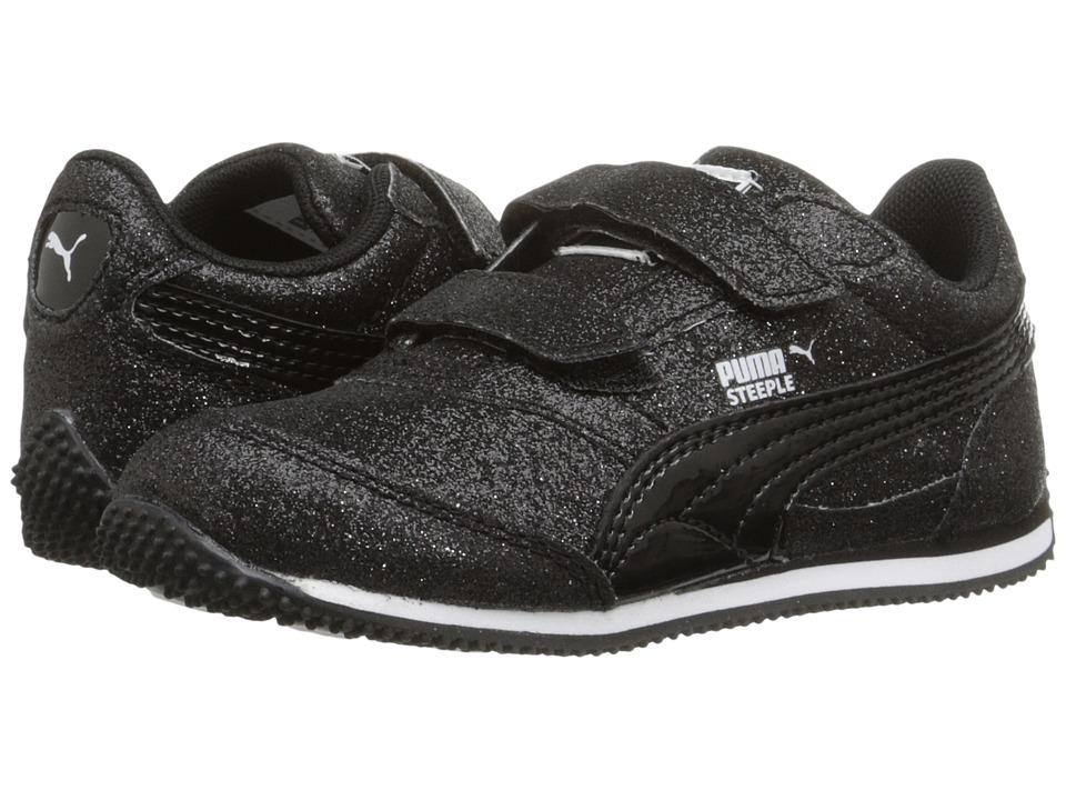 Puma Kids - Steeple Glitz Glam V Inf (Toddler) (PUMA Black) Girls Shoes