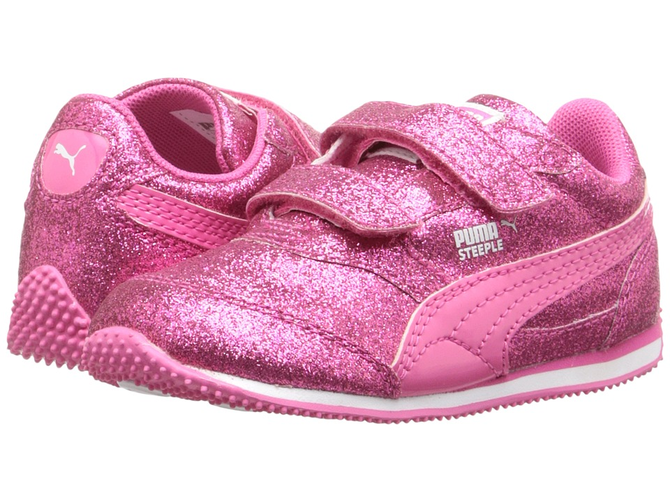 Puma Kids - Steeple Glitz Glam V Inf (Toddler) (Fandango Pink) Girls Shoes