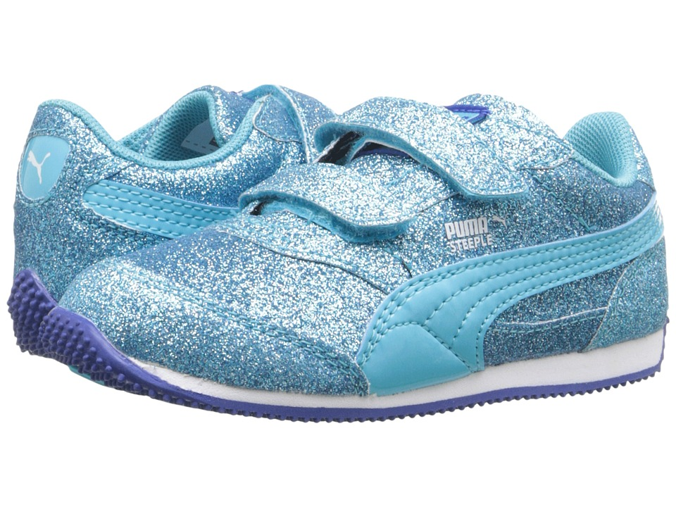 Puma Kids - Steeple Glitz Glam V Inf (Toddler) (Blue Atoll) Girls Shoes