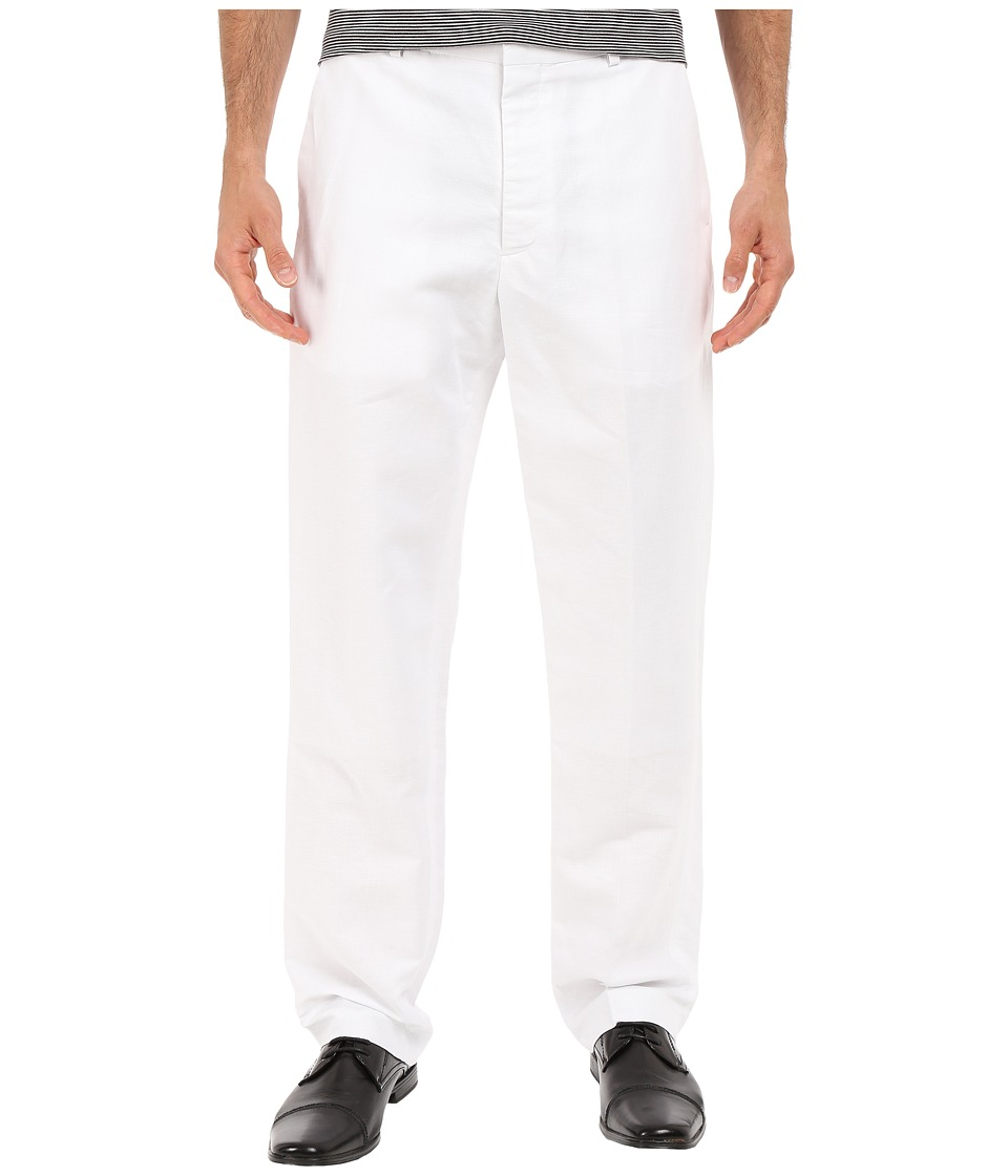 Perry Ellis - Linen Suit Pants (Bright White) Mens Casual Pants