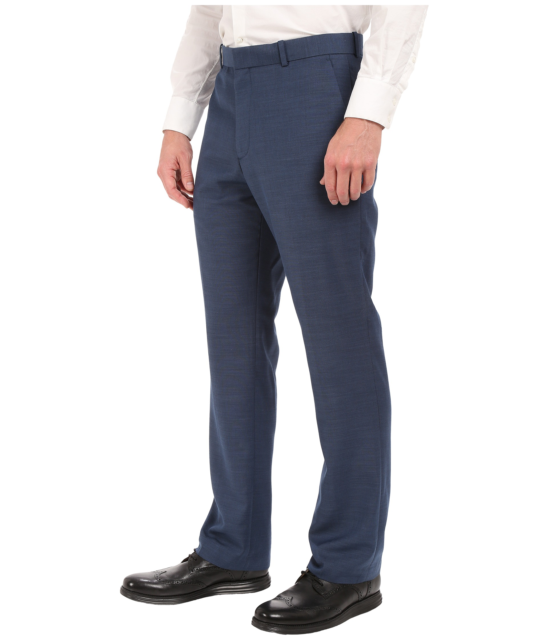 Perry Ellis Solid Texture Flat Front Suit Pants