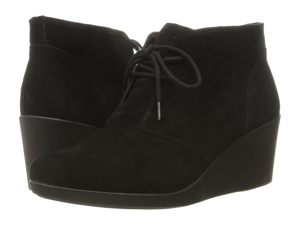 Crocs - Leigh Suede Wedge Shootie (Black) Women's Boots