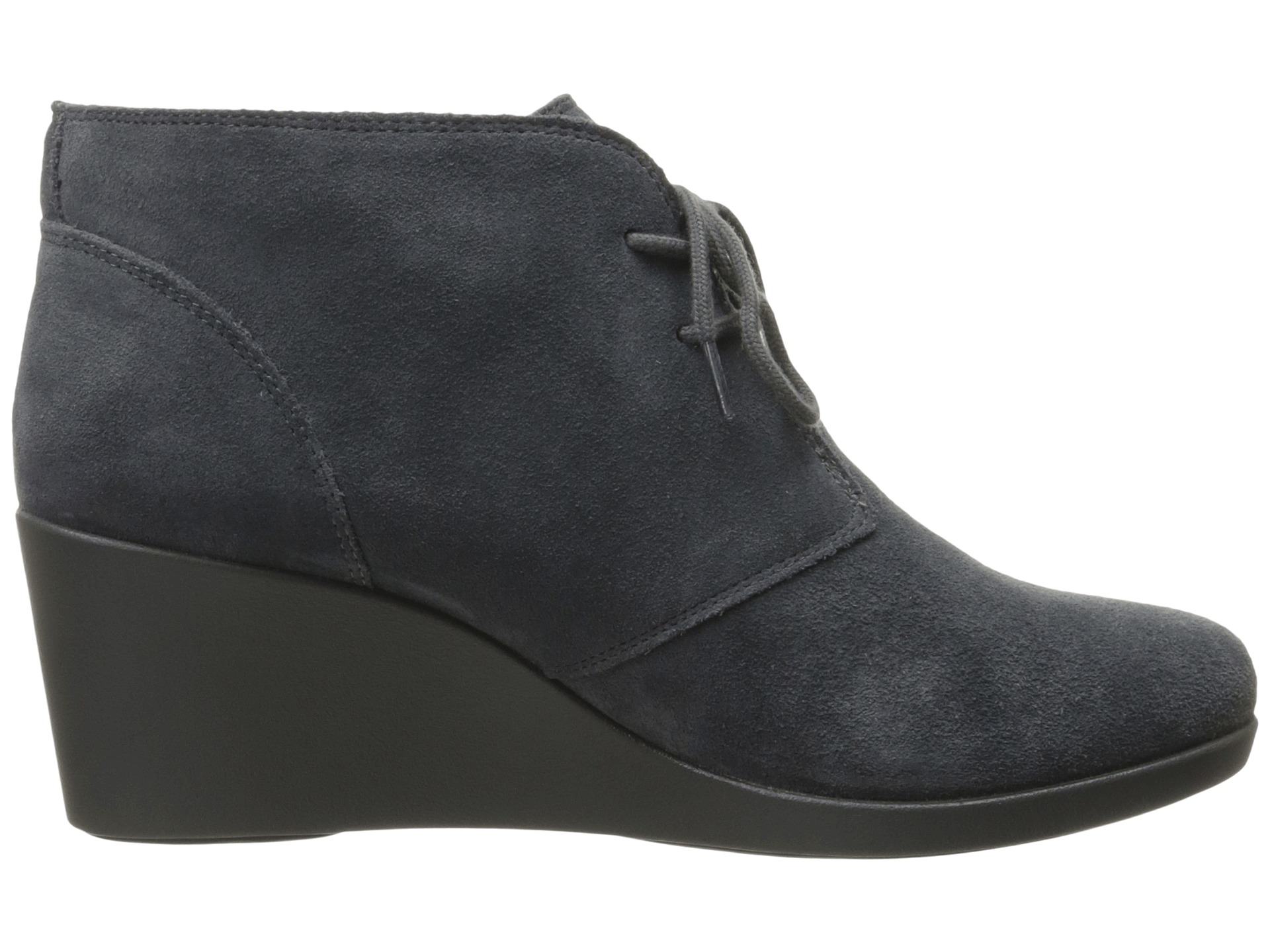 crocs leigh suede wedge shootie grey zappos free