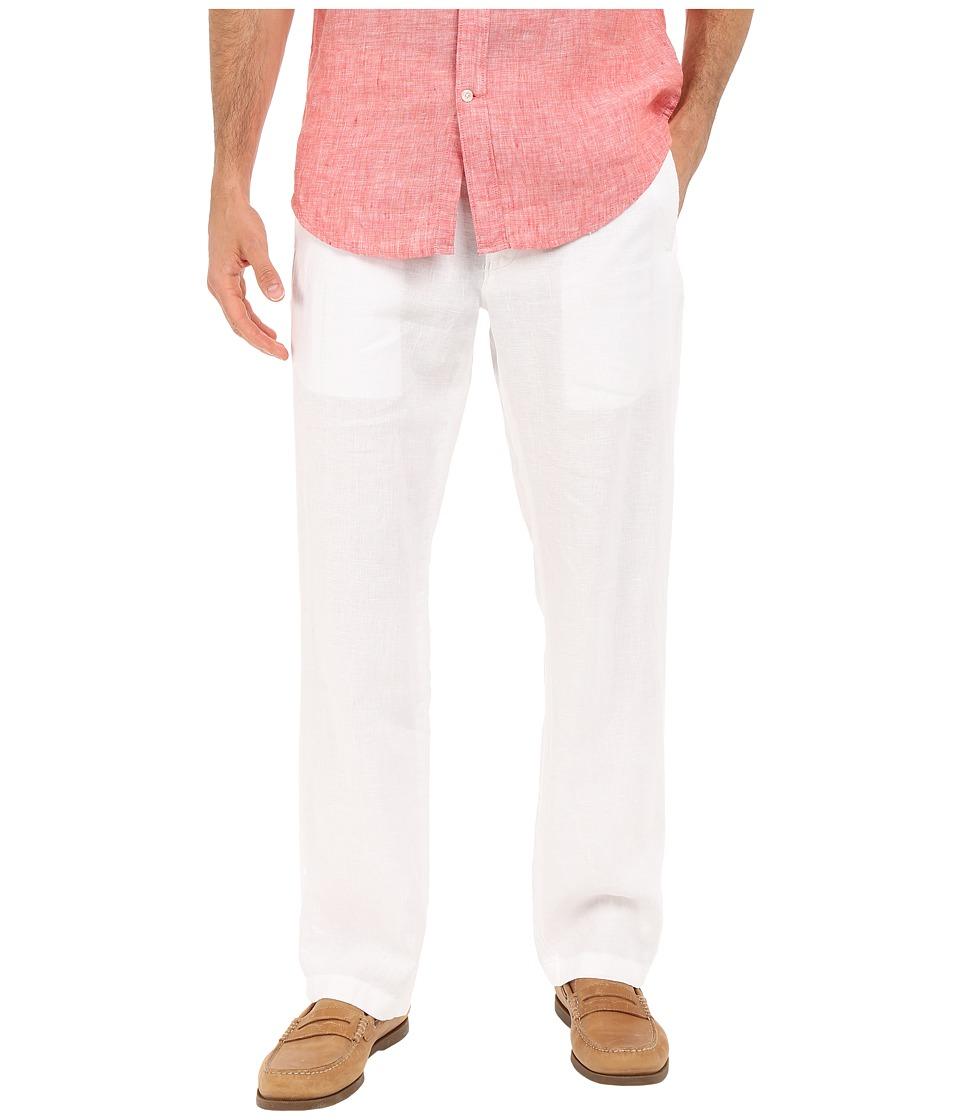 Perry Ellis Drawstring Linen Pants (Bright White) Men's C...