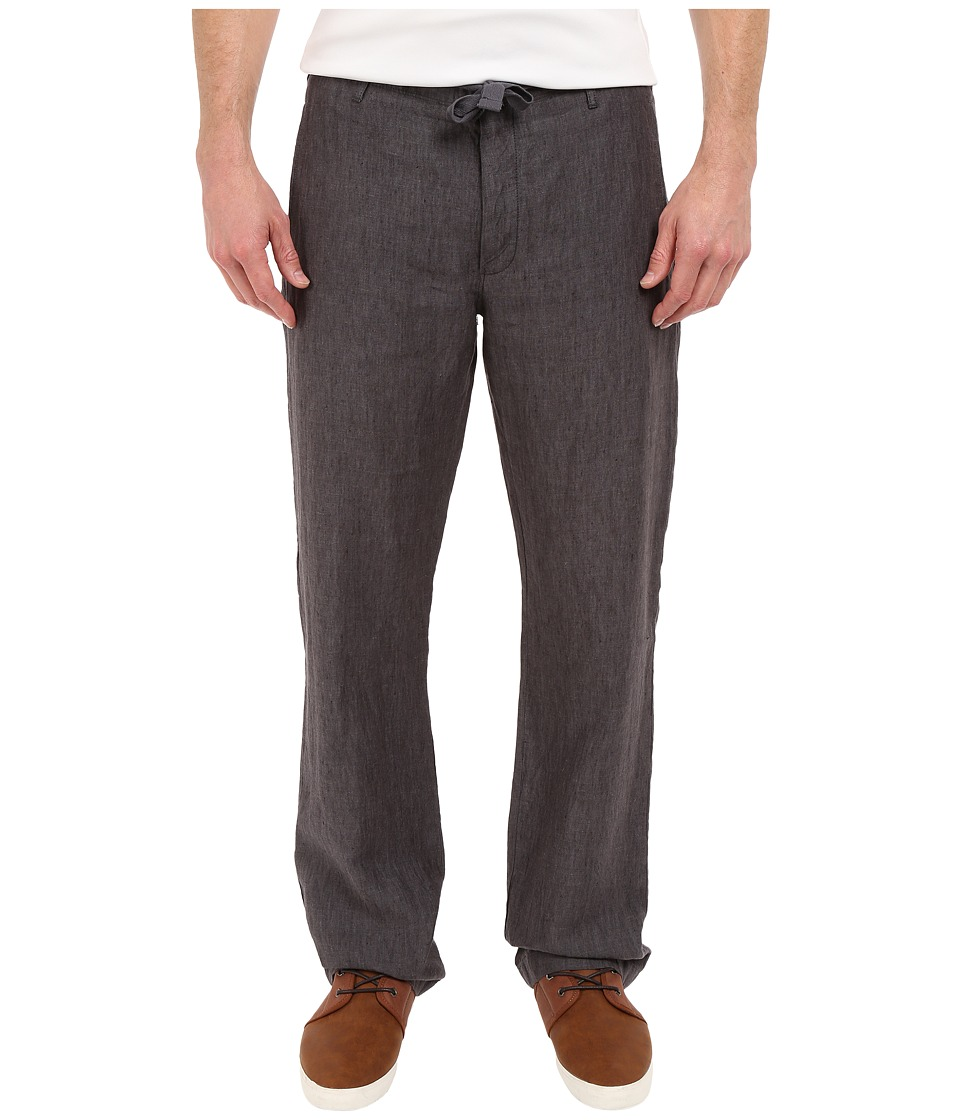 Perry Ellis Drawstring Linen Pants Slate Mens Casual Pants