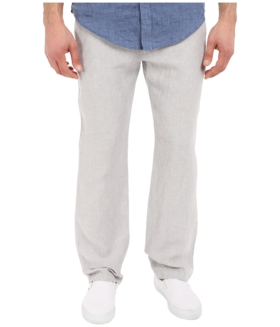 Perry Ellis Drawstring Linen Pants Alloy Mens Casual Pants