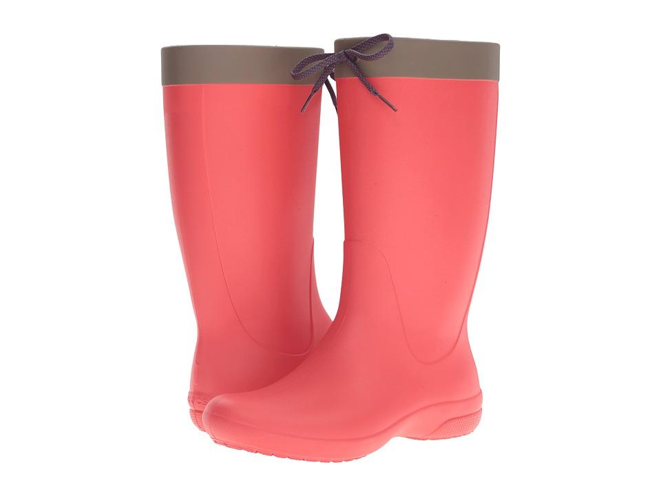 Crocs Freesail Rain Boot (Flame) Women