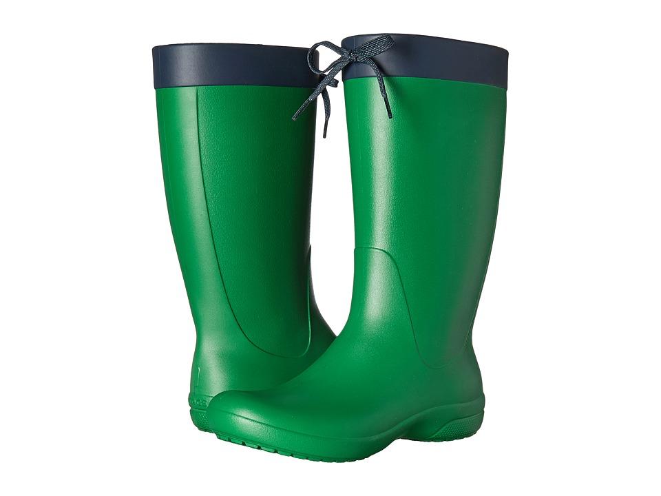 Crocs Freesail Rain Boot (Kelly Green) Women