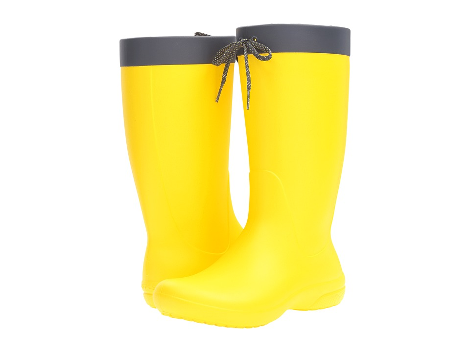 Crocs Freesail Rain Boot (Lemon) Women