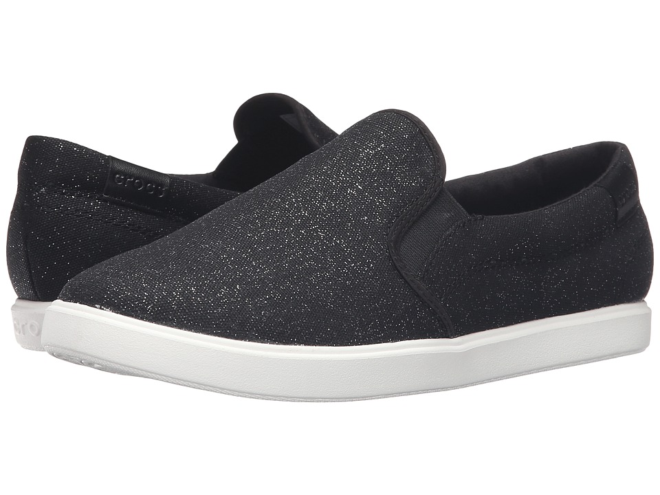 Crocs - CitiLane Slip-On Sneaker (Black Shimmer) Women