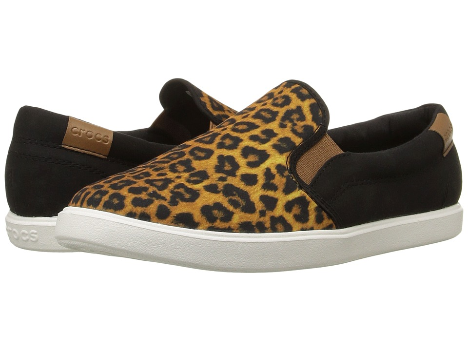 Crocs - CitiLane Slip-On Sneaker (Leopard/Black) Women