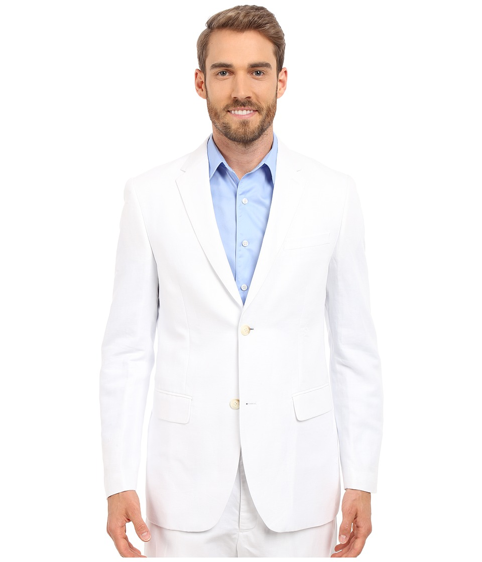 Perry Ellis Linen Suit Jacket (Bright White) Men's Coat