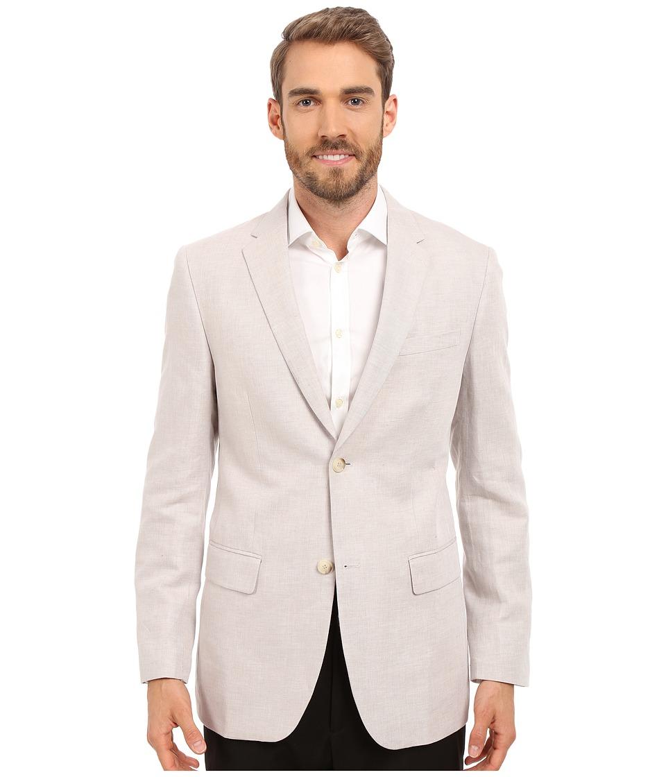 Perry Ellis Linen Suit Jacket Natural Linen Mens Coat