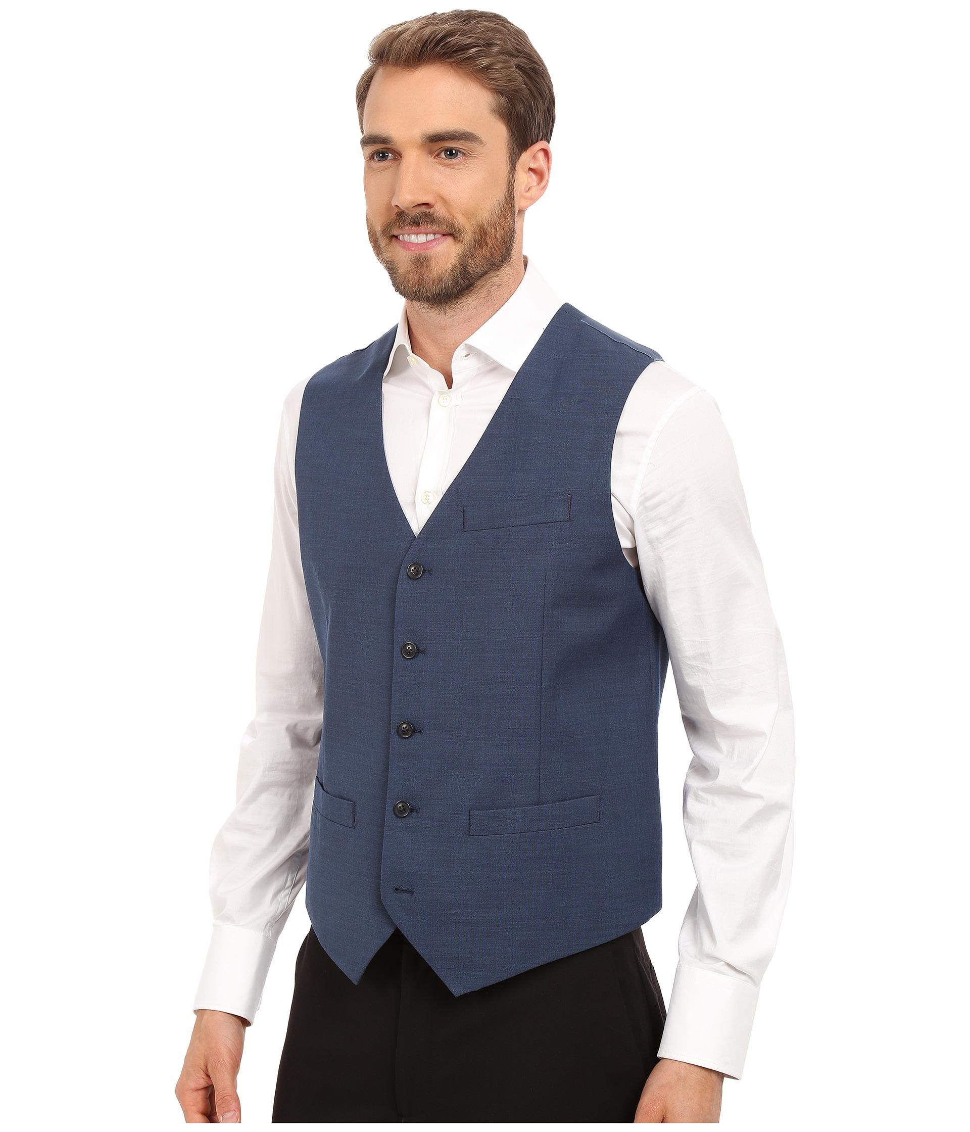 46eae65b67 Perry Ellis Solid Texture Suit Vest on PopScreen