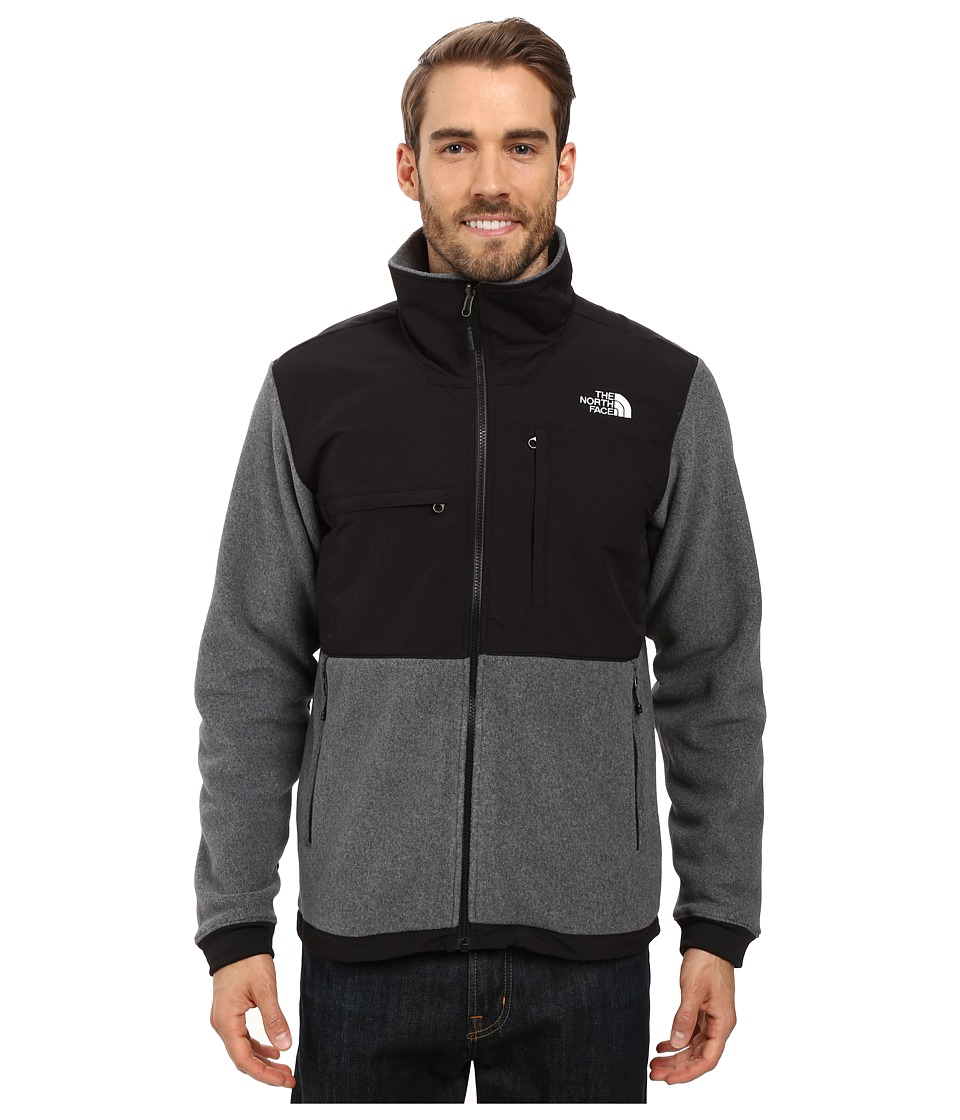 The North Face Denali 2 Jacket (Recycled Charcoal Grey Heather/TNF Black) Men