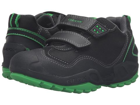 Geox Kids Jr New Savage Boy 2 (Toddler/Little Kid) - Black/Greenfluo