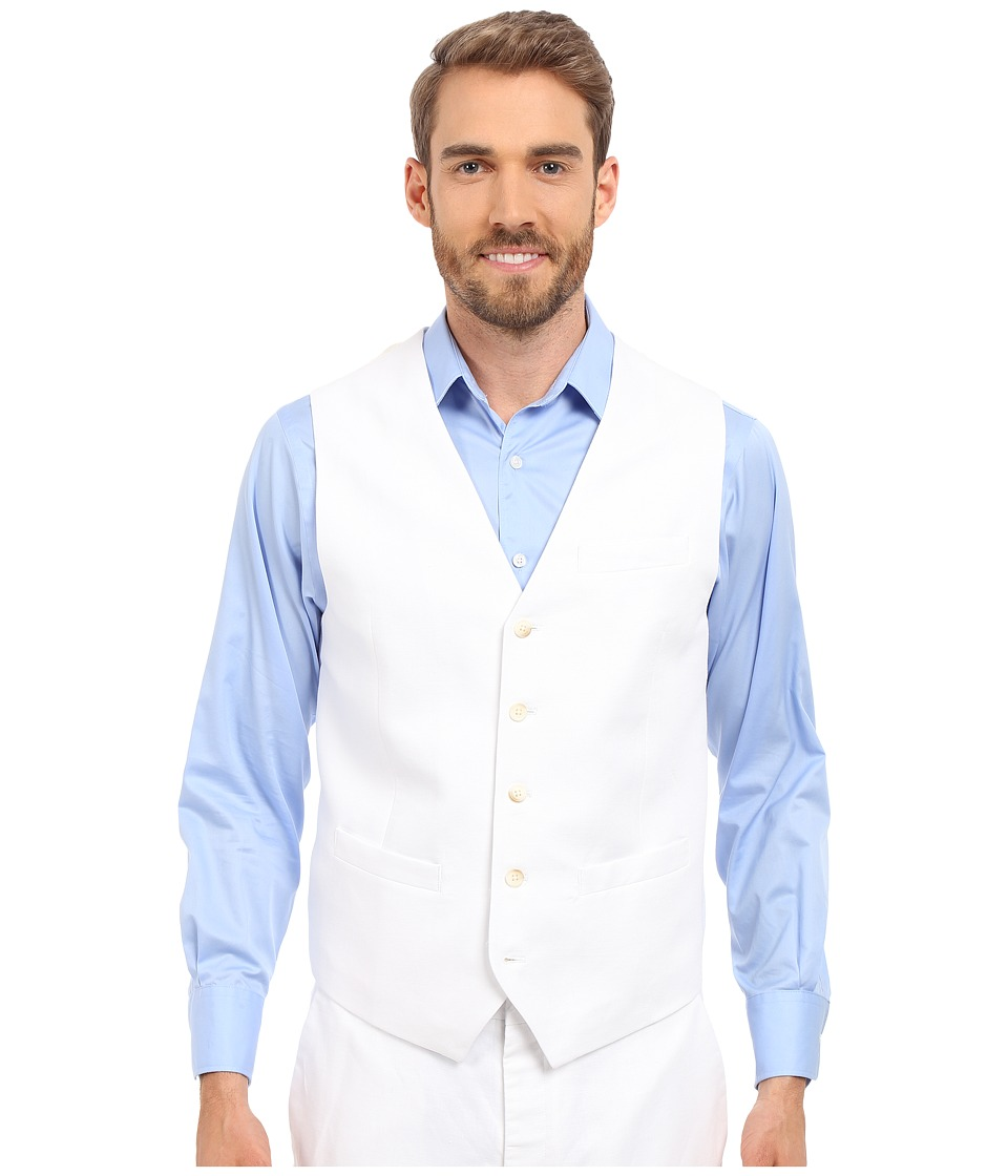 Perry Ellis - Linen Suit Vest (Bright White) Mens Vest