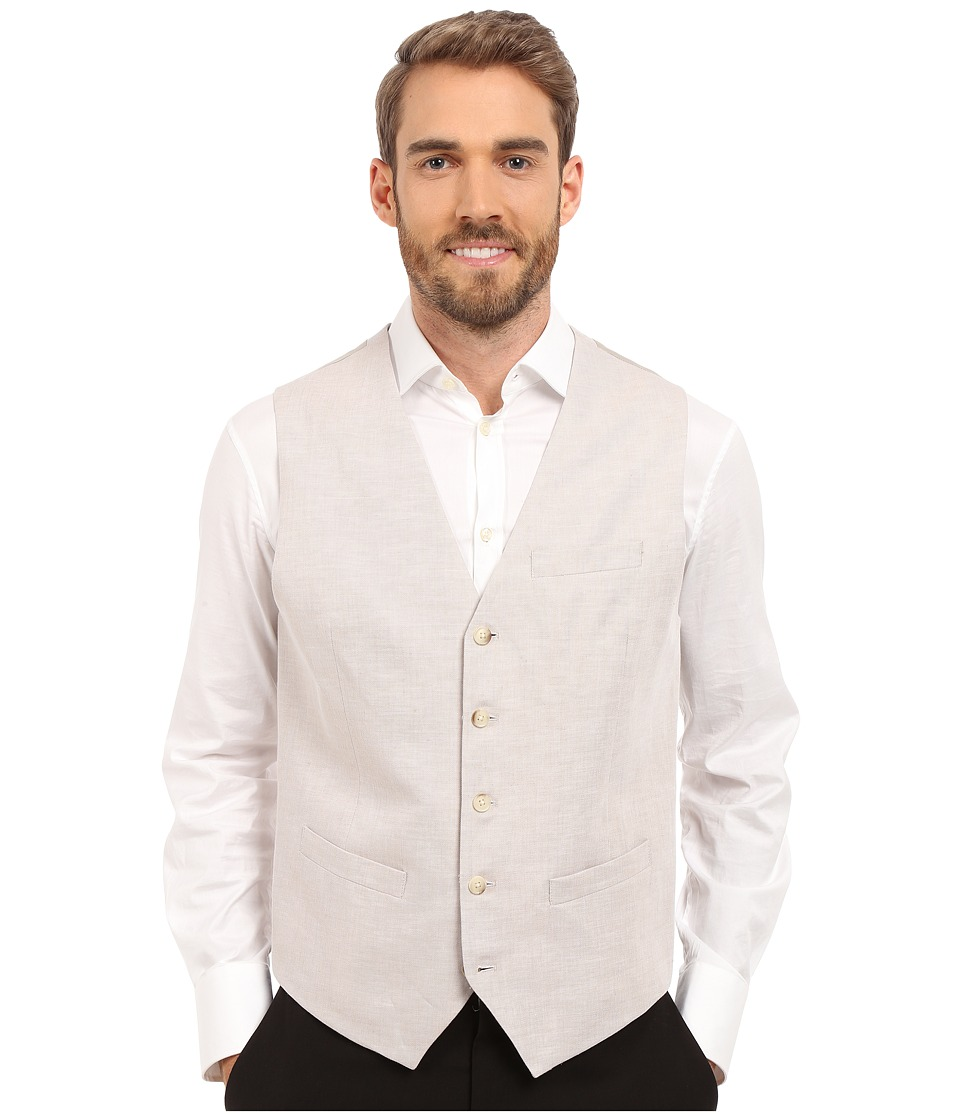 Perry Ellis Linen Suit Vest Natural Linen 1 Mens Vest
