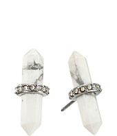 Rebecca Minkoff - Raw Crystal Pave Stud Earrings