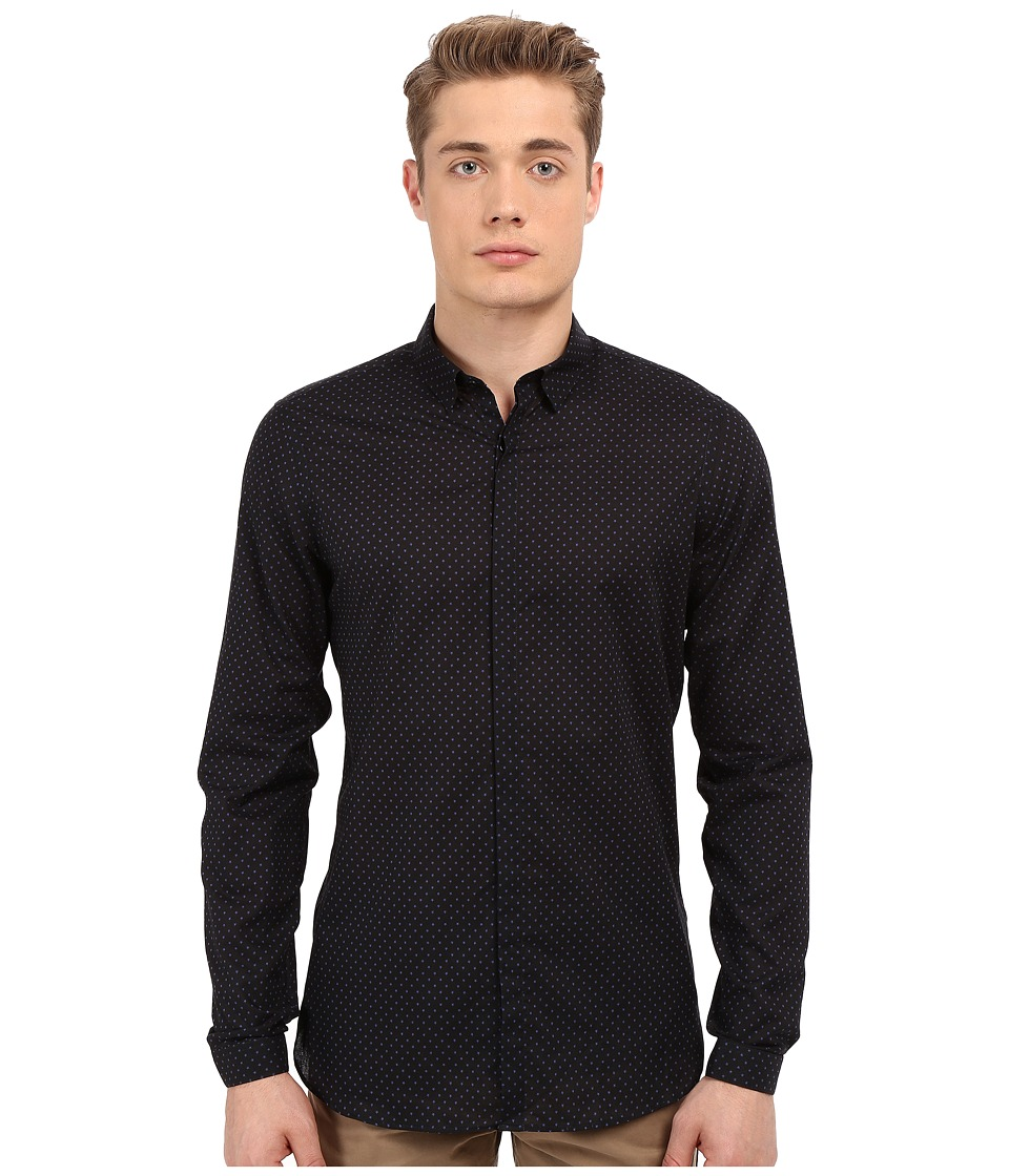 The Kooples All Star Shirt Navy Mens Long Sleeve Button Up