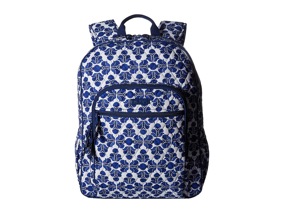 Vera Bradley Campus Backpack Cobalt Tile Backpack Bags