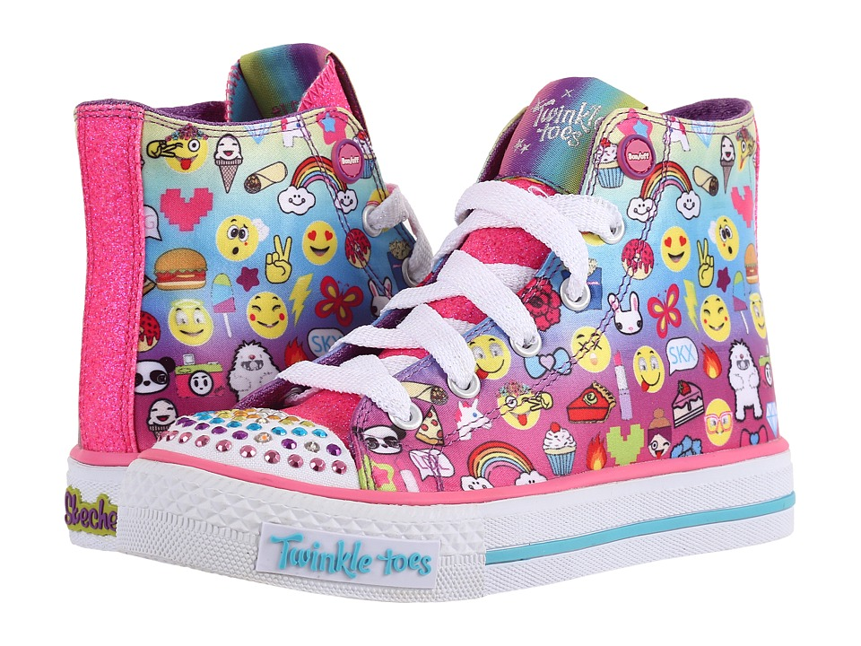 SKECHERS KIDS Shuffles 10623L Lights (Little Kid/Big Kid) (Multi) Girl's Shoes