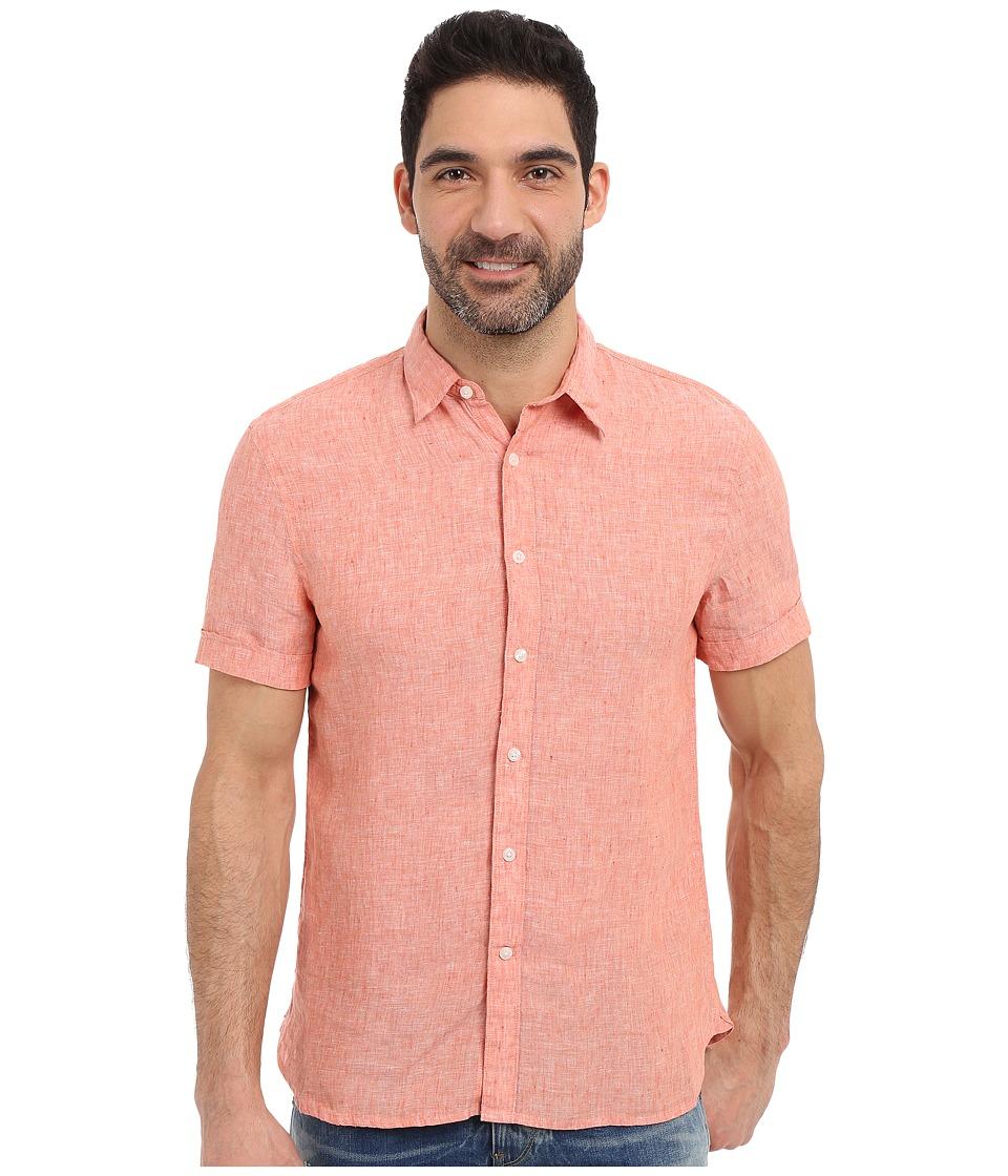 Perry Ellis Short Sleeve Solid Linen Shirt Monarch Mens Short Sleeve Button Up