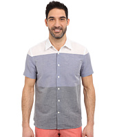Perry Ellis - Linen Cotton Horizontal Stripe Shirt