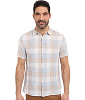 Perry Ellis - Linen Buffalo Check Pattern Shirt
